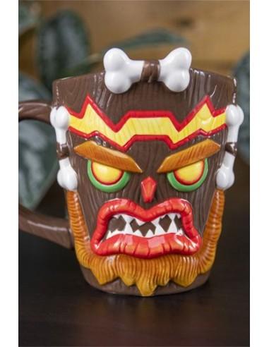 Taza 3D Crash Bandicoot Uka Uka 13cm