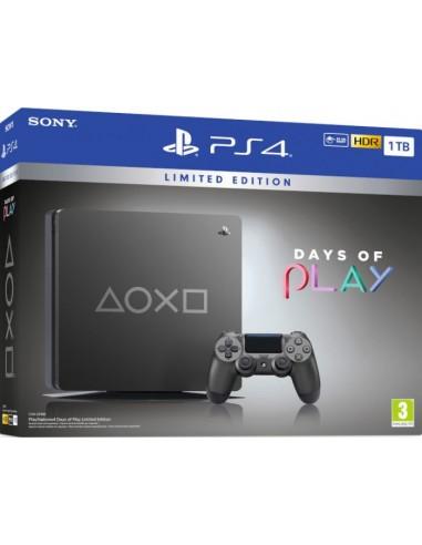 PS4 Consola Slim 1TB Gris Metalizado...