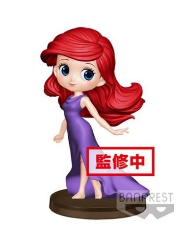 Figura Disney La Sirenita Ariel Vestido Morado Qposket Banpresto 14 Cm