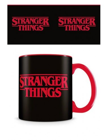 Taza Stranger Things Logo Black