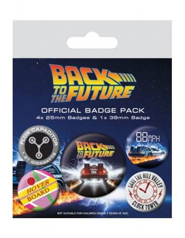 Chapas Regreso al Futuro Pack 5 DeLorean