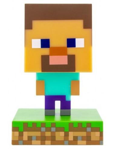 Lámpara Minecraft 3D Icon Steve Paladone