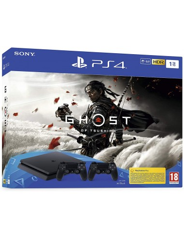 PS4 Consola Slim 1TB Negra + Ghost of...