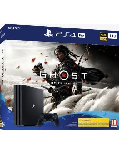 PS4 Consola PRO 1TB Negra + Ghost of...