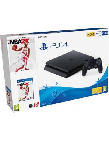 PS4 Consola Slim 500GB Negra + NBA 2K21