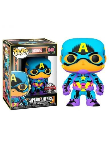 FUNKO POP! Marvel Black Light Captain...
