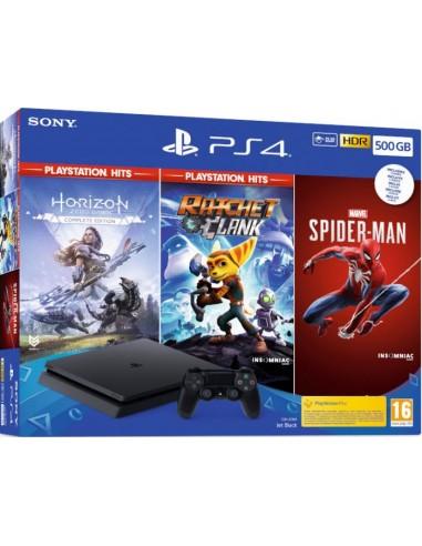 PS4 Consola Slim 500 GB Negra +...