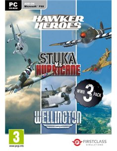 WORLD WAR II COL. (HAWKER HEROES, STUKA Vs HURRICANE, WELLINGTON) -FSX