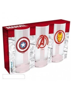 Pack de 3 Vasos Marvel
